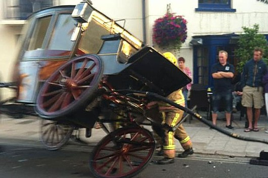 Cart crash: In line with the theme explored in this article, not only is it likely that George Osborne won't even have the right vehicle to carry his budget - he'll probably crash it, too.